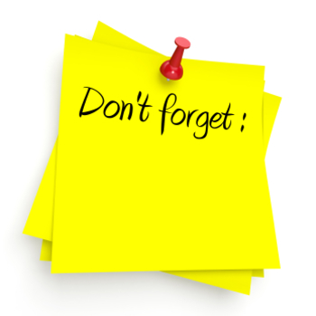 Don t forget clipart reminder sign. Reusable image for proofreading