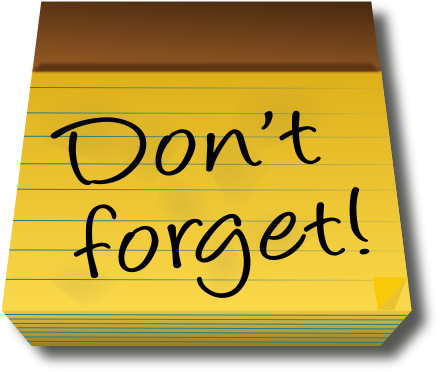 Hand clipart reminder. Tuition and paperwork due