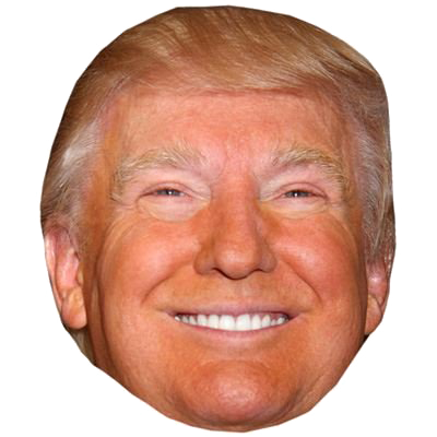 Donald trump head png. Happy smiling