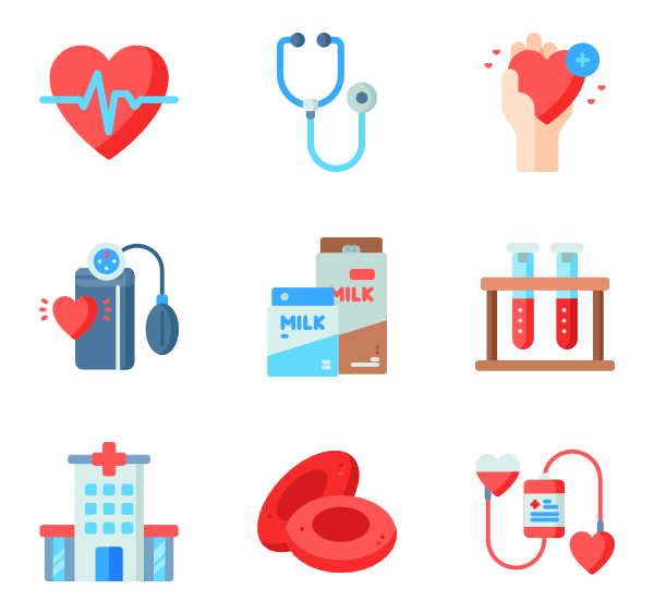 Donation vector. Icons free blood
