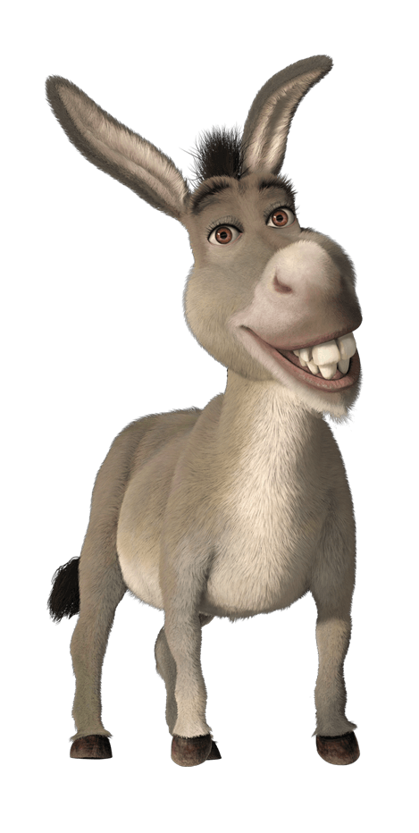 Donkey cartoon png. Characters madagascar and shrek