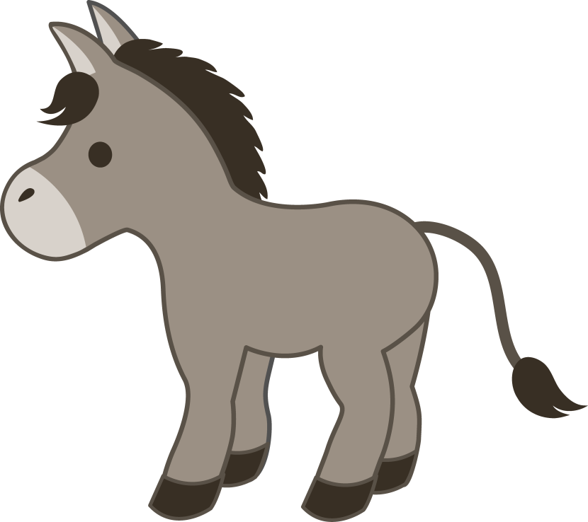 Donkey clipart. Panda free images clip