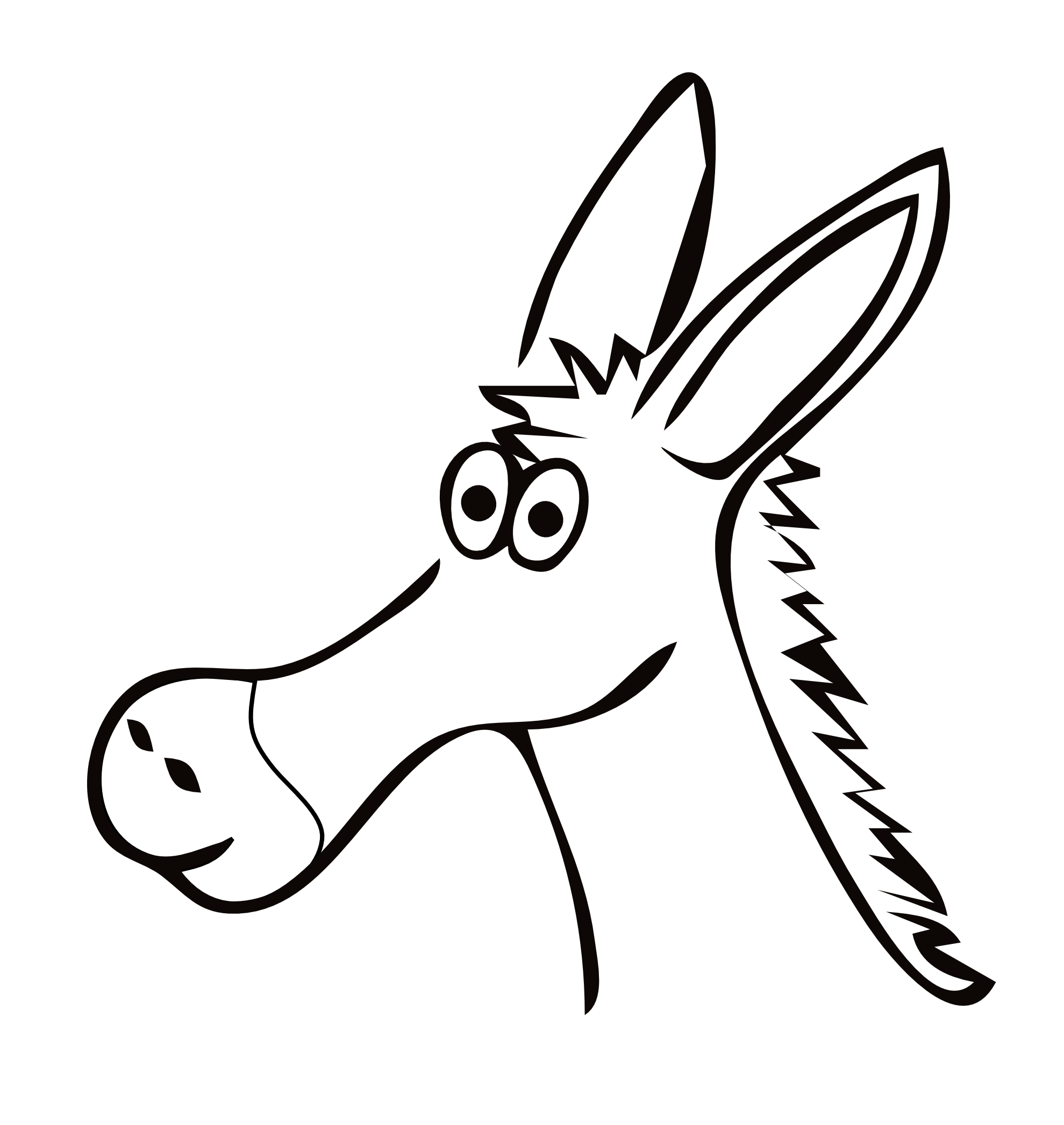 Drawing donkey carton. Free clipart download clip