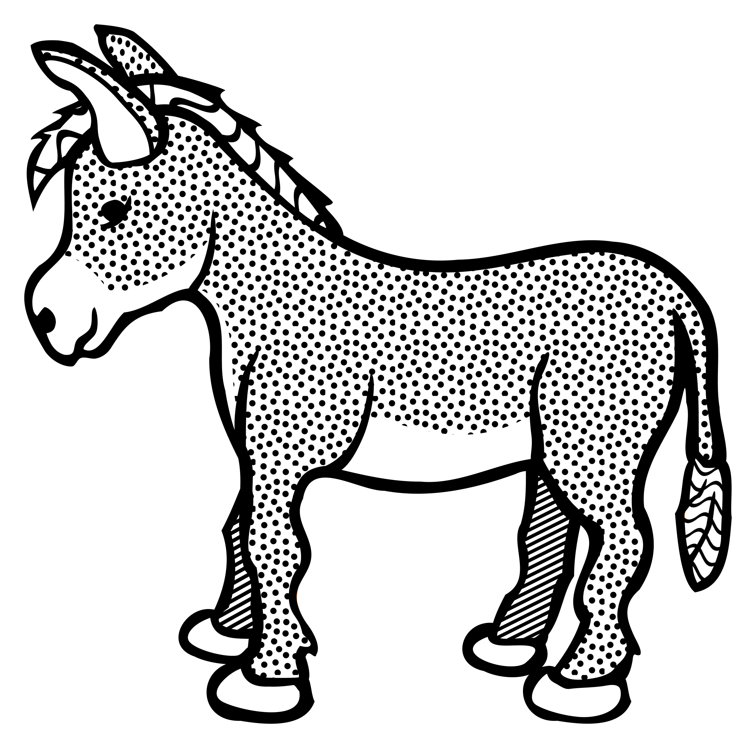 Donkey clipart line. Drawing outline at getdrawings