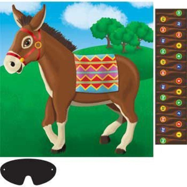 Donkey clipart pin the tail on donkey. Game parties party supplies