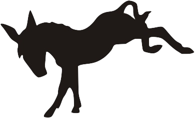 Donkey kick png. Free silhouette cliparts download