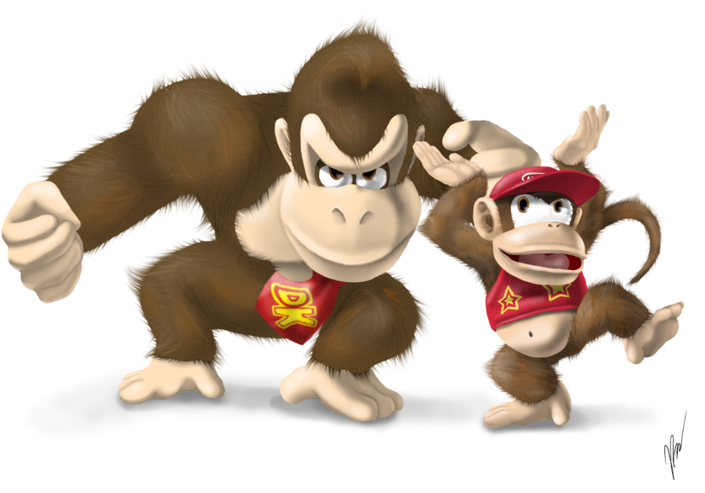 Donkey kong and diddy kong png. By emilykiwi on deviantart