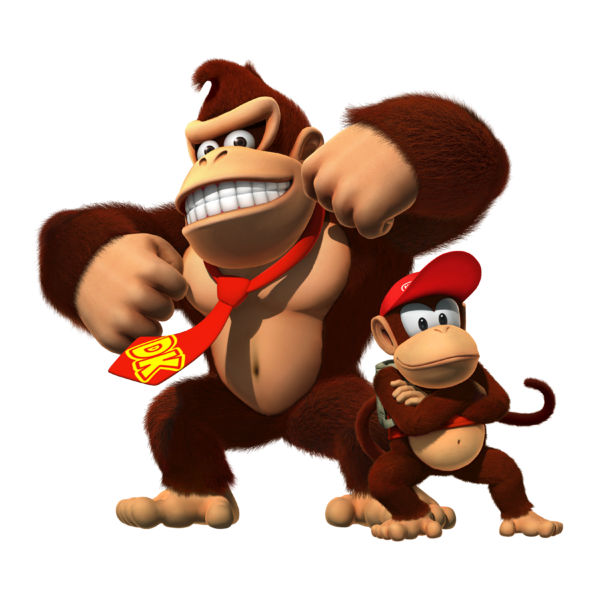 Donkey kong and diddy kong png. Image fanon wiki fandom