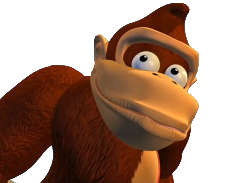 Donkey kong confused gif png. The super smash bros