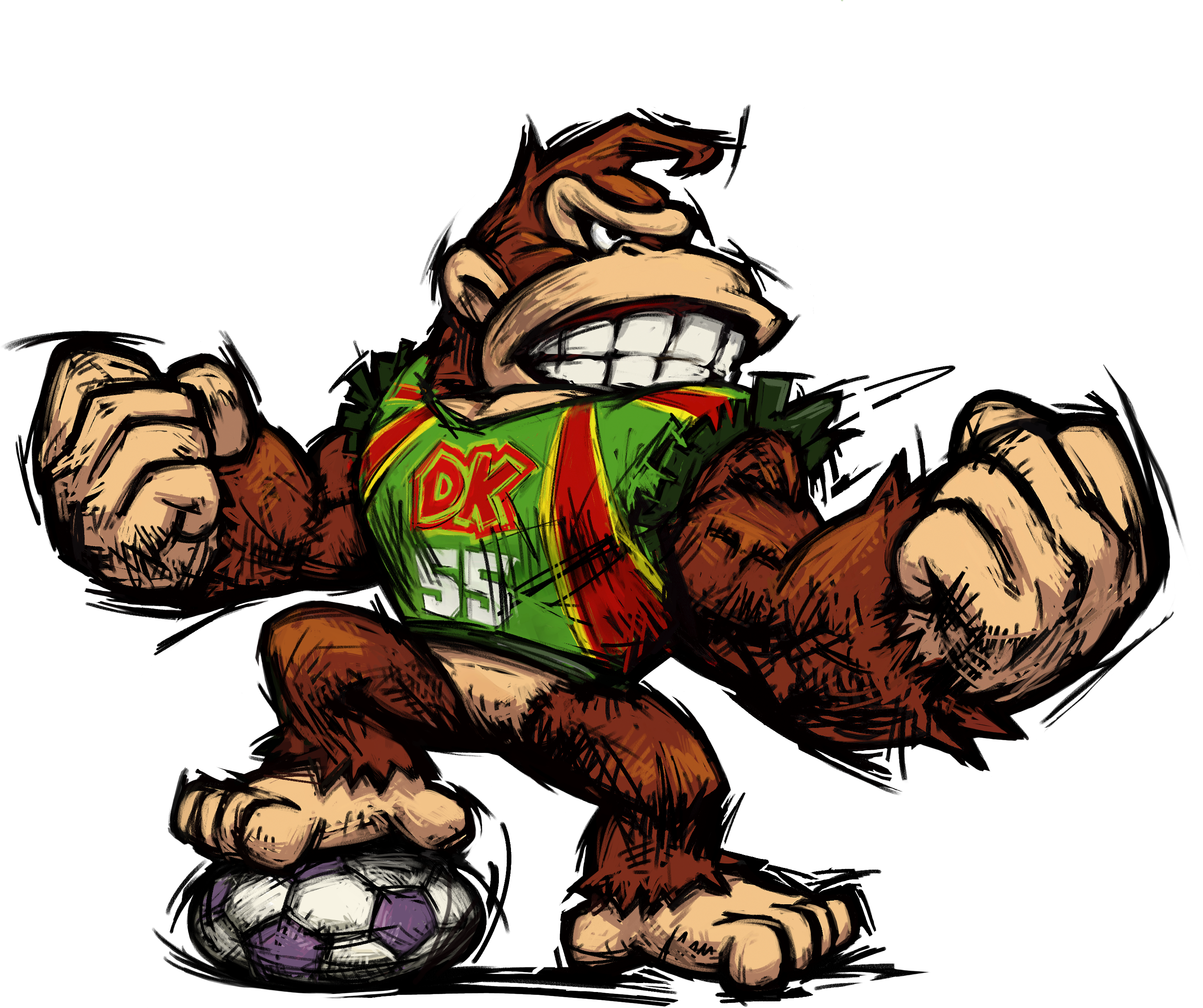 Donkey kong confused gif png. Mario strikers charged pinterest