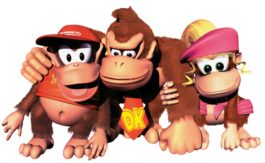 donkey kong and diddy kong png