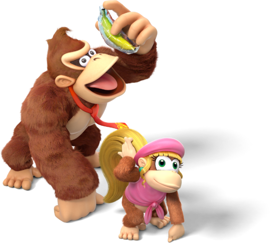 Donkey kong country tropical freeze family png. Image and dixie filedonkey
