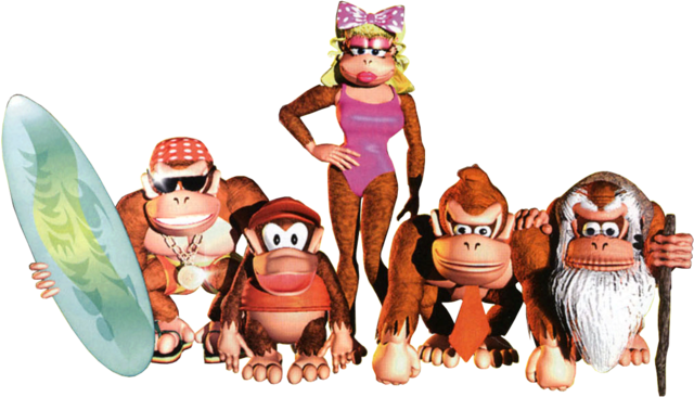 Donkey kong country tropical freeze family png. Image dkc wiki fandom