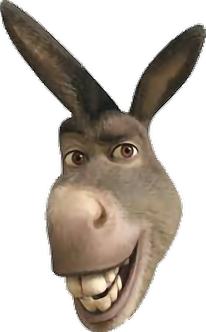 Donkey shrek head png. Sticker donkeyface freetoedit report