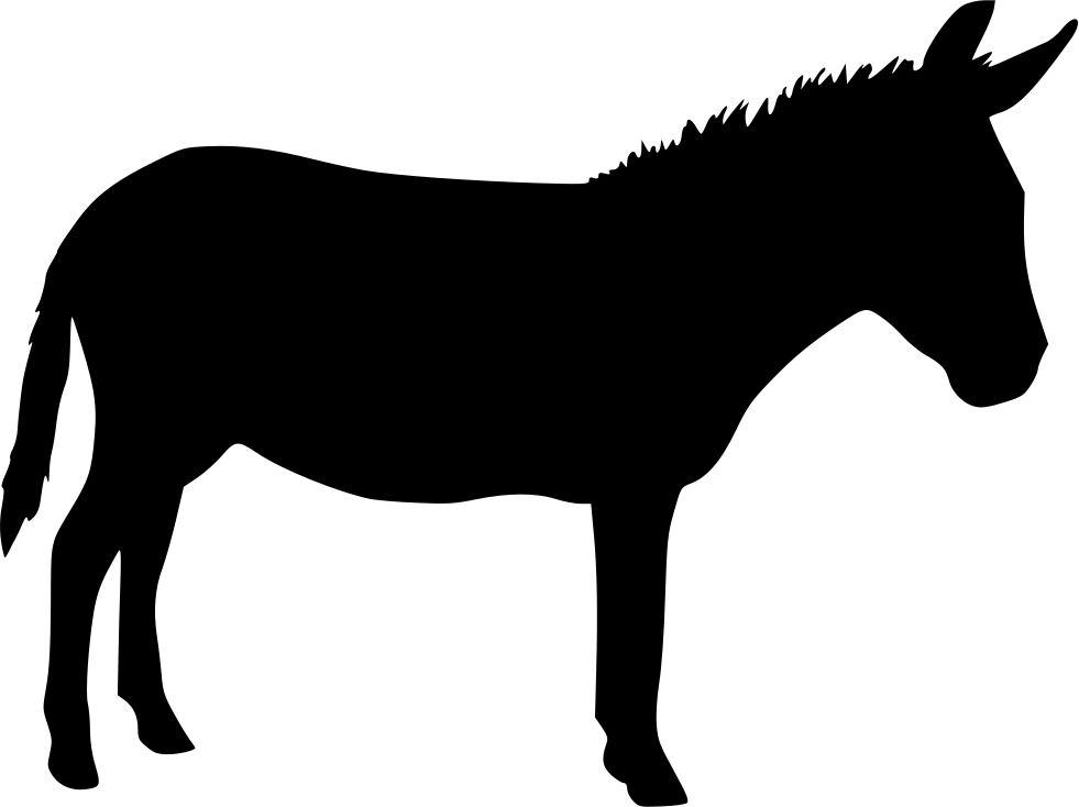 Donkey svg. Silhouette at getdrawings com