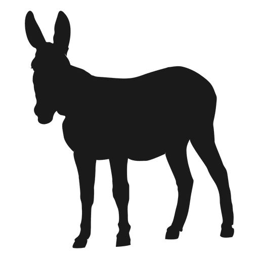 Donkey svg. Silhouette transparent png vector