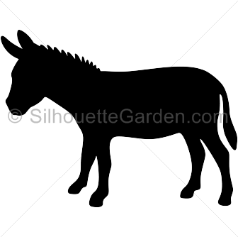 Donkey svg. Silhouette clip art download