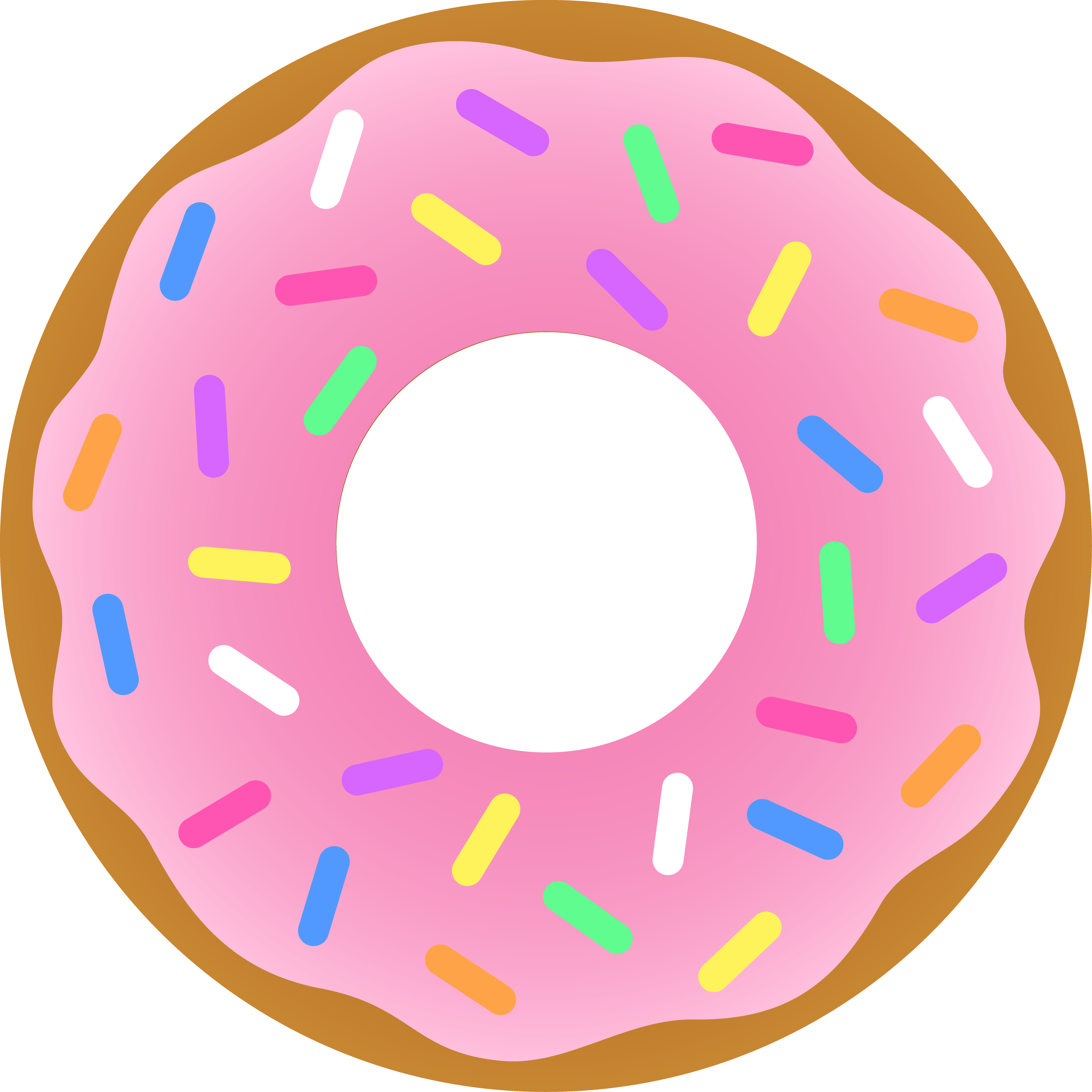 Donut clipart colorful. Pink free image