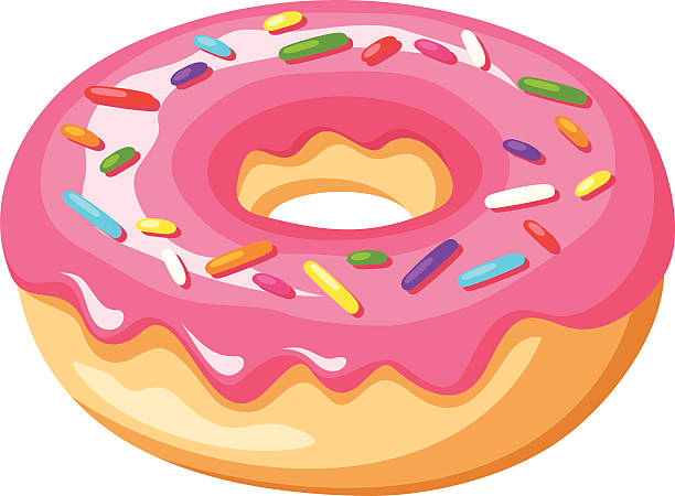 Donut clipart colorful. Best ideas on gallery