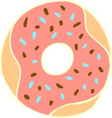 Donut clipart colorful. Pin by on pinterest