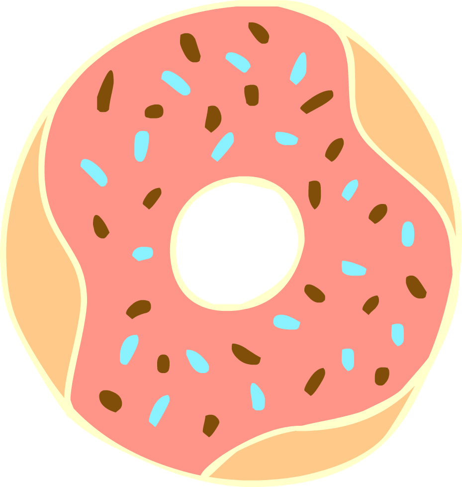 Sprinkles clipart round. Free donut cliparts download