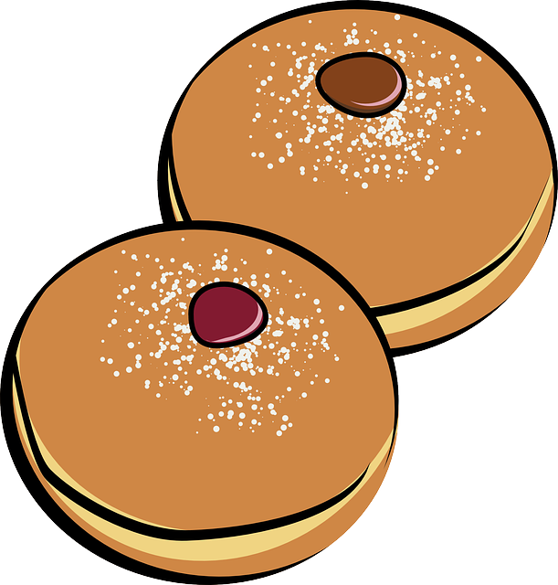 Donut clipart round object. Free picture of doughnuts