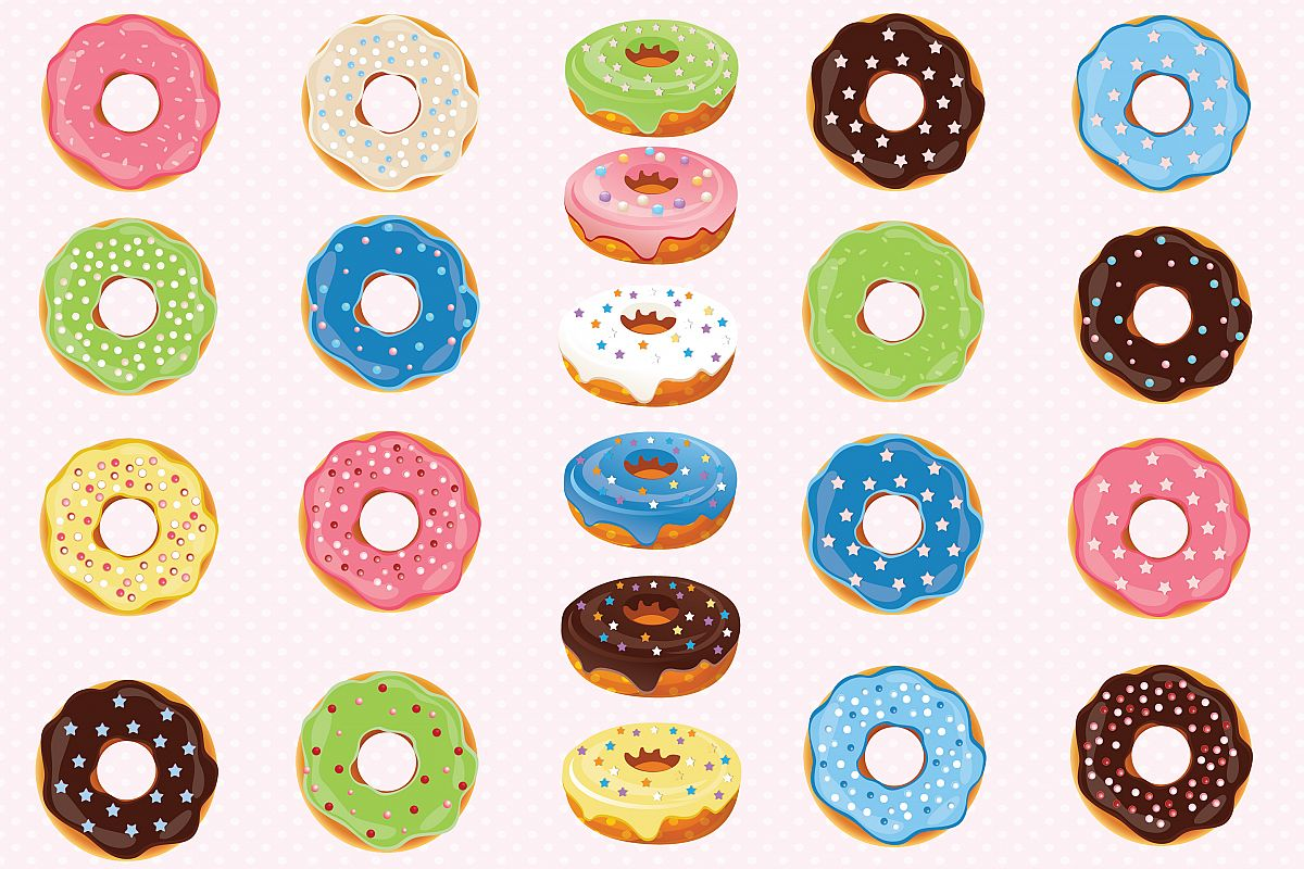Donut clipart doughnut. Donuts graphics by prem
