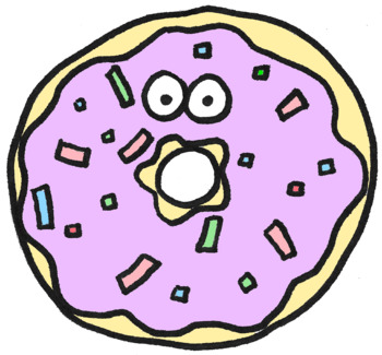 Donut clipart dount. By perfectlyimperfectart teachers pay