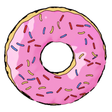 Pink donut png.