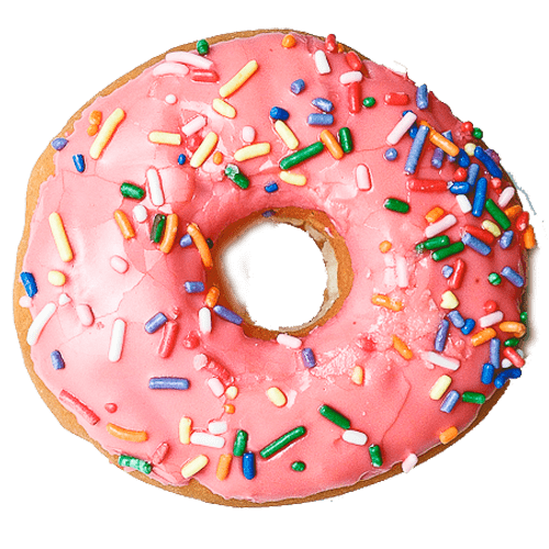 Donut clipart png. Pink transparent stickpng food