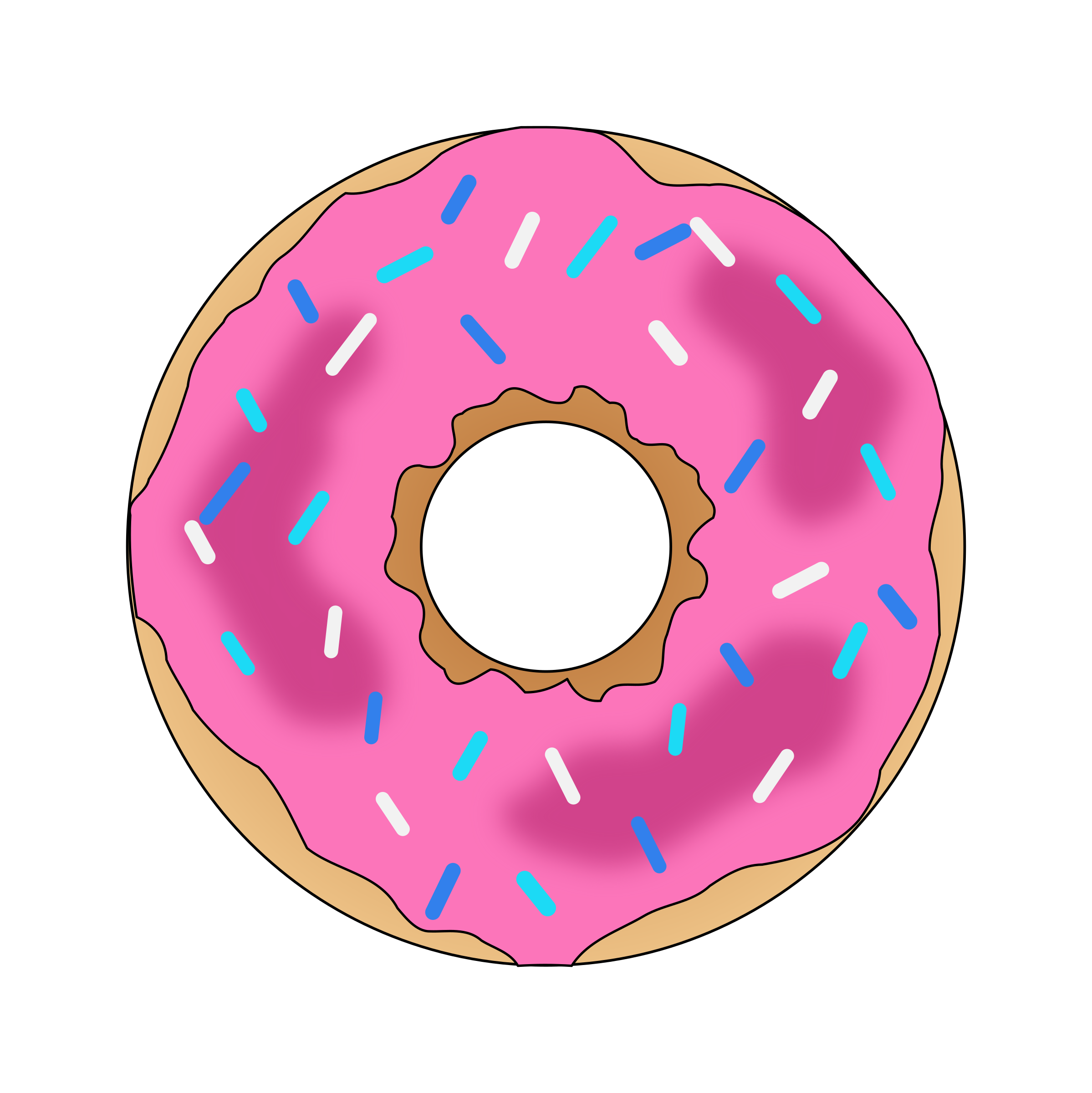 Donuts vector pdf. Pink donut icons png