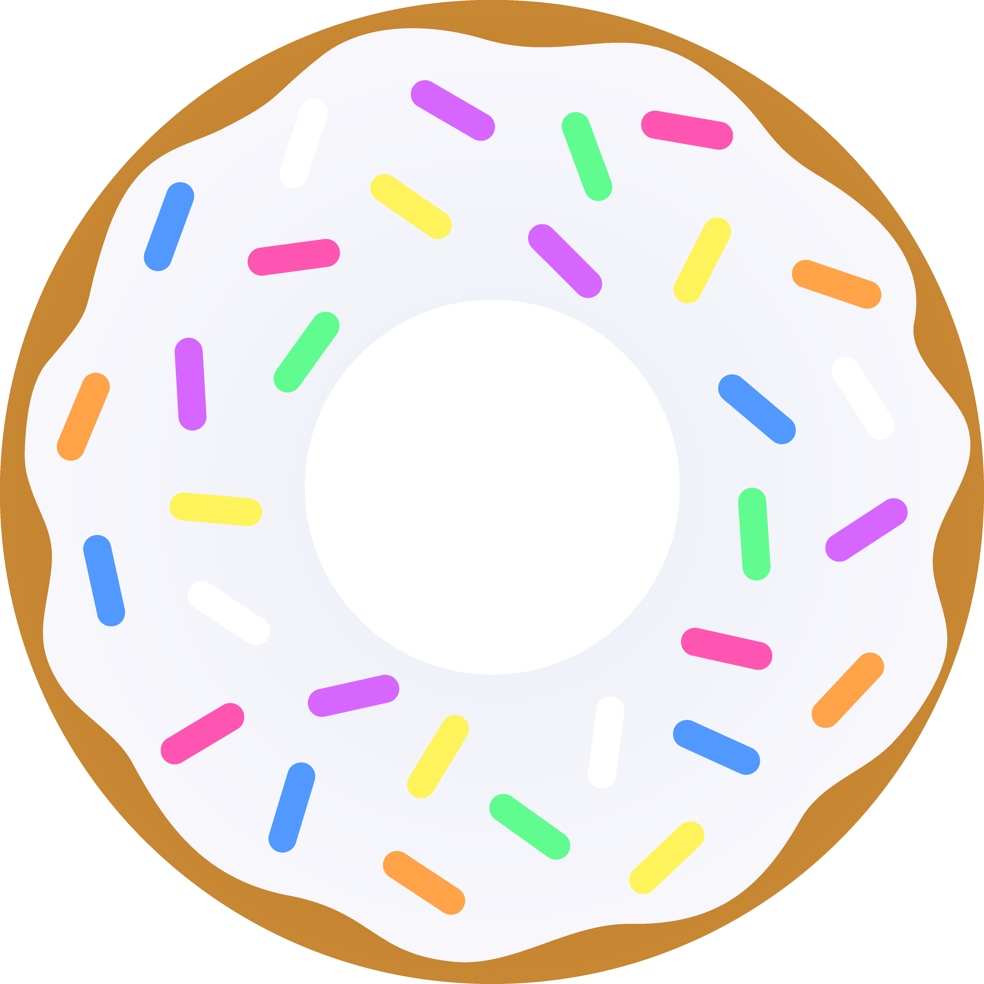 Donuts vector sketch. Free clipart download clip