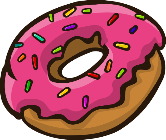 Donut clipart colorful. Sprinkle for free