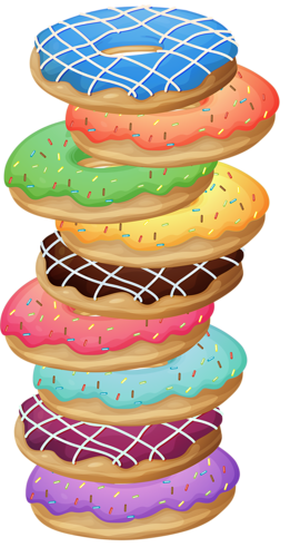 Cookie clipart stack. Pinterest donuts art