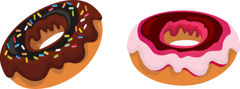 Donut clipart word. Language arts lesson doughnut