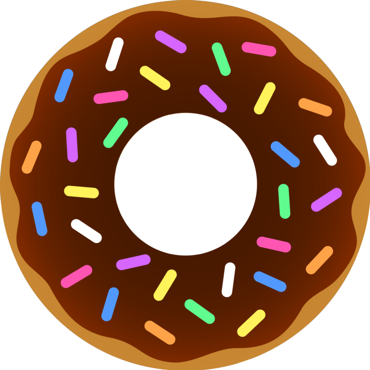 Donut clipart word. Food donuts