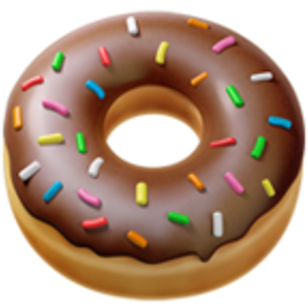 Donut emoji png. Iphone food sticker by