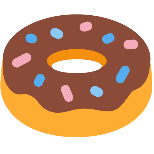 Donut icon png. And vector for free