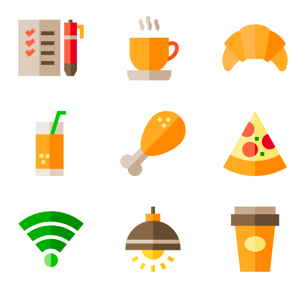 Donuts vector. Donut icons free cafe