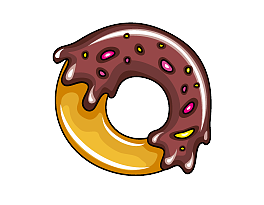 Donuts vector simple. Delicious donut free download
