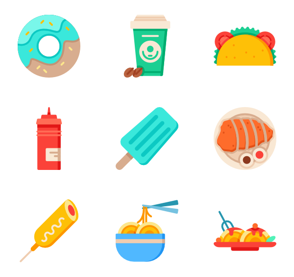 Donuts vector background. Donut icons free fast