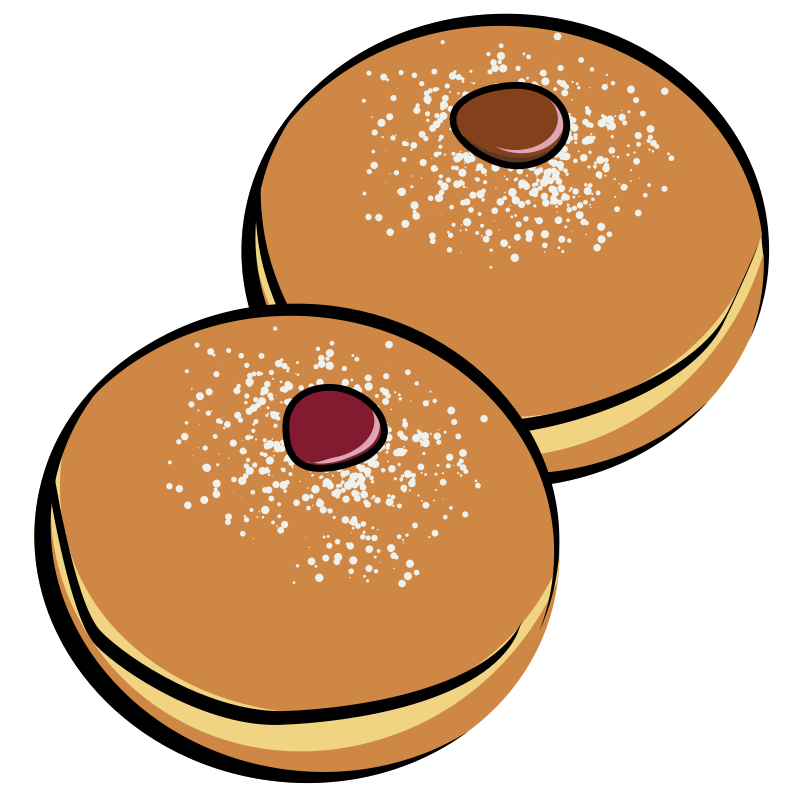 Donuts vector cartoon. Free baked goods clipart