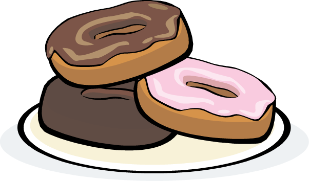 Donuts clipart baked goods. Breakfast