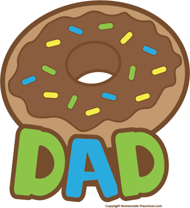 Dad clipart. And doughnuts