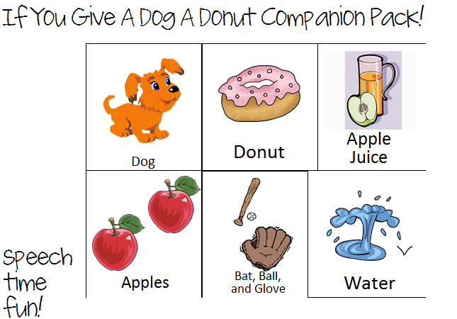 Donuts clipart if you give a dog a donut. Storybook companion pack sequencing