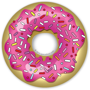 Donuts vector. Homer glazed donut with