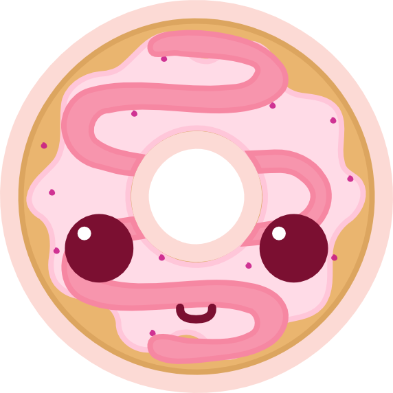 Donuts vector animated. Clipart huge freebie
