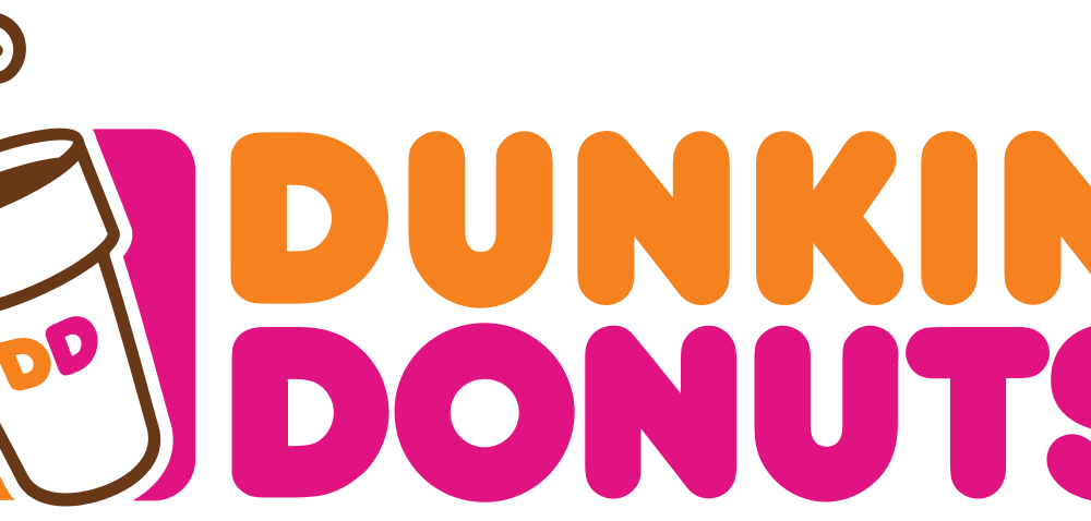 Donuts vector background. Dunkin png logo free
