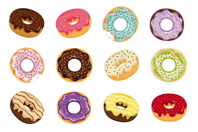 Donuts vector background. Download free png transparent