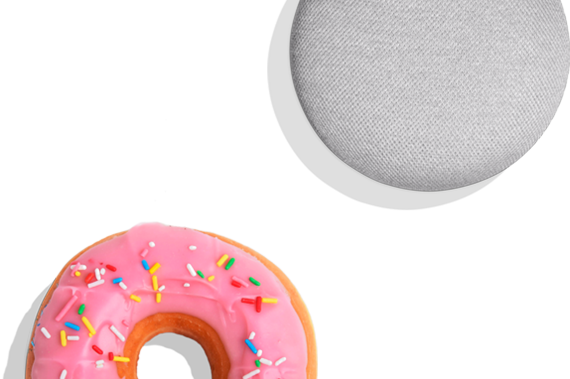 Donuts vector mini. Google home donut shop